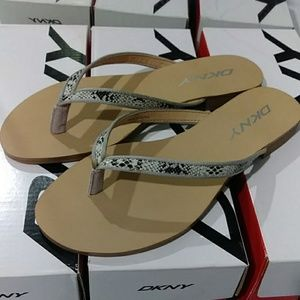 Dkny Snake Print Pu Leather Women's Sandals 👡